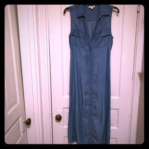 Denim shirt dress perfect for spring or fall!